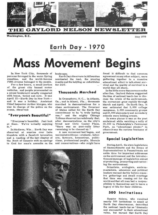 earth day 1970 pictures. Events : Earth Day 1970