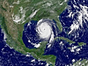 NOAA satellite image of Hurricane Katrina