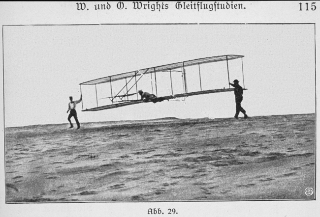 Shortly after the famed first flight by brothers Orville and Wilbur Wright