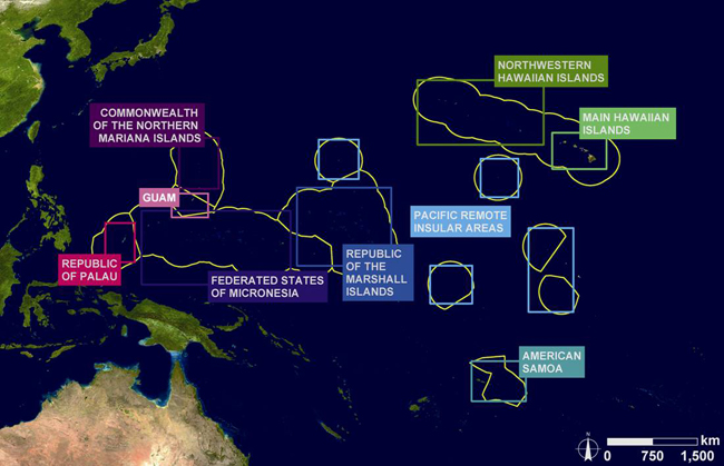 NOAA 200th: Foundation: Coral Reef Conservation: Location of U.S. ...
