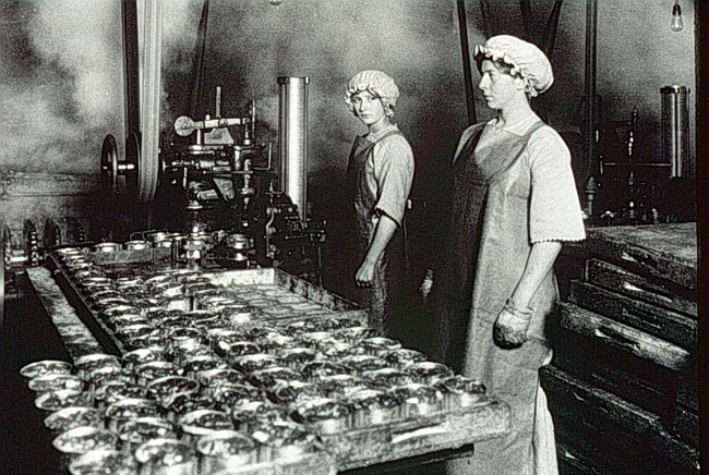 Canneries, such as these in the early 20th century, have provided jobs