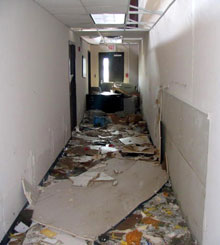 Demolished NOAA port office