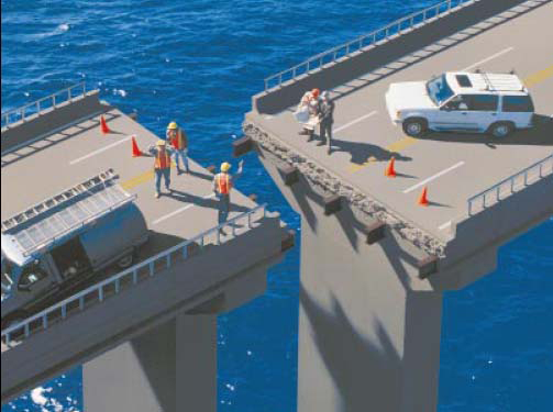 Survey-scale inaccuracy or positioning errors can lead to costly construction mistakes such as bridge misalignments.