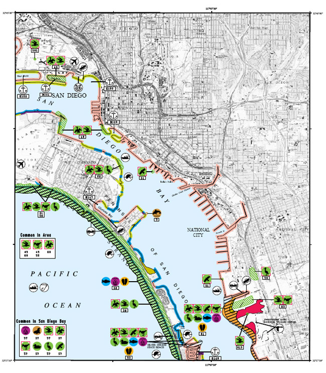 Esi Map Of San Diego Bay And Vicinity